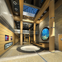 3d office lobby model