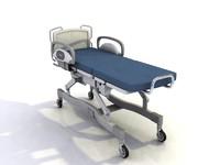 hospital bed medical 3d max