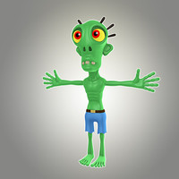 3d max cartoon zombie