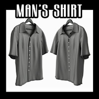 man s shirt 3d obj