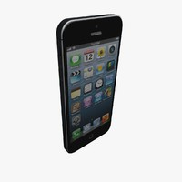 accurate iphone 5 phone 3d model