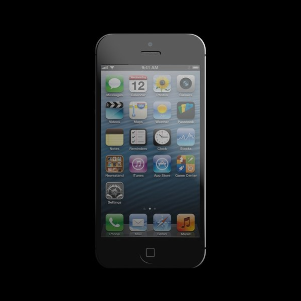 accurate iphone 5 phone 3d model - iPhone 5... by Artechin