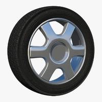 3d rim spoke wheel model