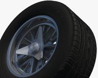 3d model rear wheel rim sport