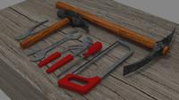 set tools 3d model