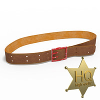 brown leather belt 3d model