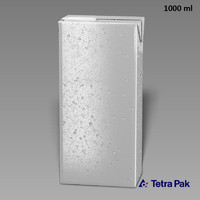 3d model tetrapack slim 1000ml