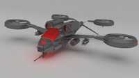 3ds max helicopter futuristic