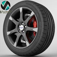 3d model s60 rim tyre