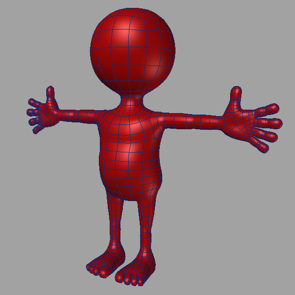 3dsmax cartoon male dummy - cartoon dummy 1 male... by kengustudio