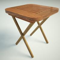 3d street table model