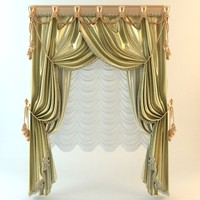 curtain elegant 3d 3ds