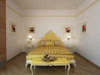 3d model of bed classic