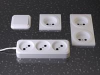 3d switch socket model