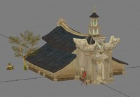 village church 3d max