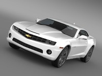 chevrolet camaro euversion 2012 3d model