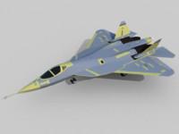free sukhoi t-50 pak fa 3d model