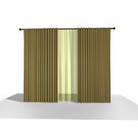 curtain 16 3d model