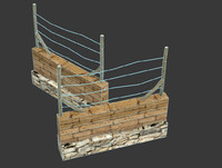 afghan iraq wall 3d max