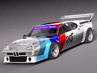 3d car racing bmw m1 model