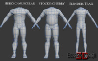 customizable human character 3d max