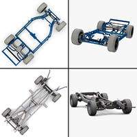 car chassis 3d model