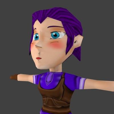 Chibi Girl Character