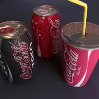3d model of coca cola