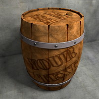 cinema4d wood barrel