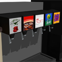 beverage drink station c4d