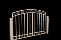 3d decorative gate model