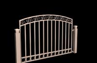 3d decorative gate model