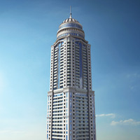 3D Model of The Princess Tower Residential Building in Dubai