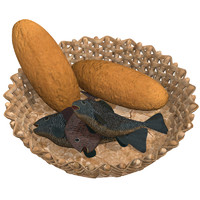 3d fishes loaves