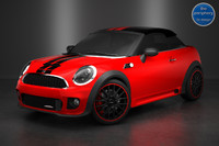 c4d mini coupe red black