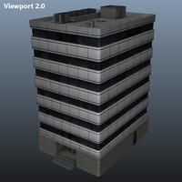 office building 3d obj