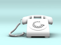 3d wired phone model