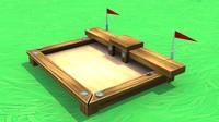 3d sandbox sand pit