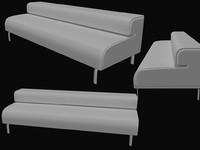 sofa bay 3d model