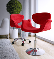 3d red swivel chair 2 model