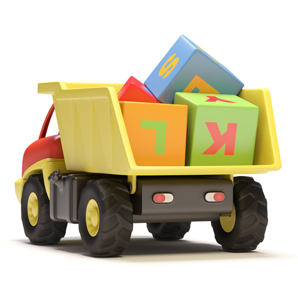 3d toy truck model - Toy truck... by filipok.cg