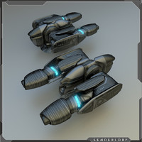 energy gun turret 3d model