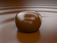 3d model bonbon chocolate