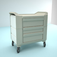 hospital medical drawers table cart
