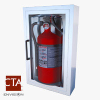 3ds max extinguisher wall box