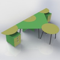 3d furniture office model
