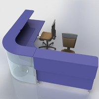 3d cabinet furniture office computer desk model