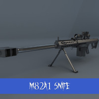 m82a1 snipe rifle 3d 3ds