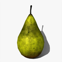 low-poly pear fruit max