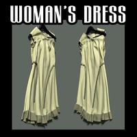lain woman s dress obj